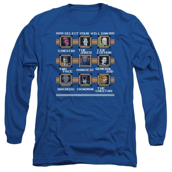 Dc Stage Select Long Sleeve Adult Royal T-Shirt
