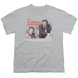 SIX MILLION DOLLAR MAN THE FIRST - S/S YOUTH 18/1 - SILVER T-Shirt