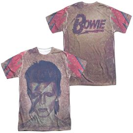 David Bowie Glam (Front Back Print) Short Sleeve Adult Poly Crew T-Shirt