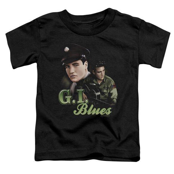 Elvis G I Blues Short Sleeve Toddler Tee Black T-Shirt