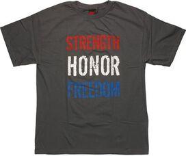 Flag Strength Honor Freedom T-Shirt