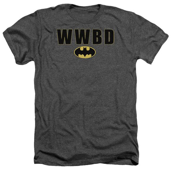 Batman Wwbd Logo Adult Heather