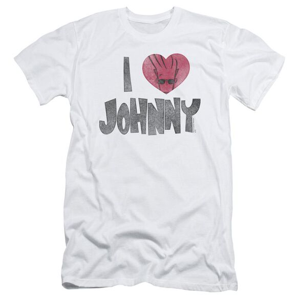 Johnny Bravo I Heart Johnny Short Sleeve Adult T-Shirt