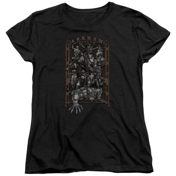 Batman Arkhams Gate Short Sleeve Womens Tee T-Shirt