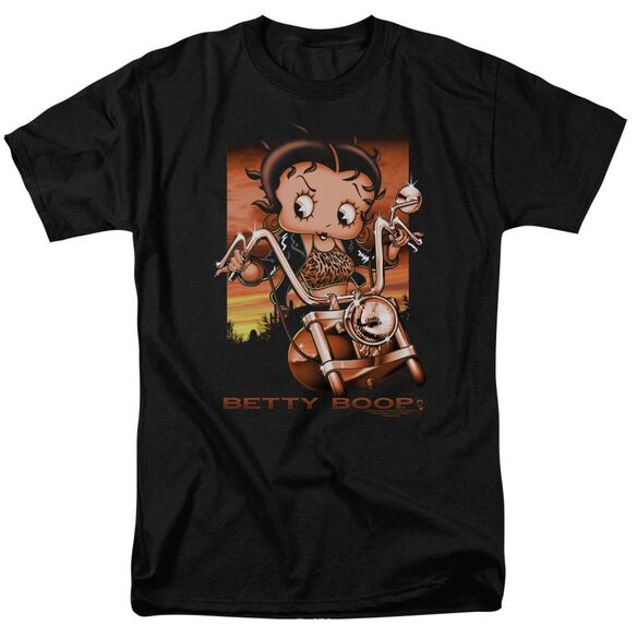 Betty Boop Sunset Rider Short Sleeve Adult T-Shirt