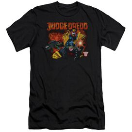 Judge Dredd Through Fire Short Sleeve Adult T-Shirt