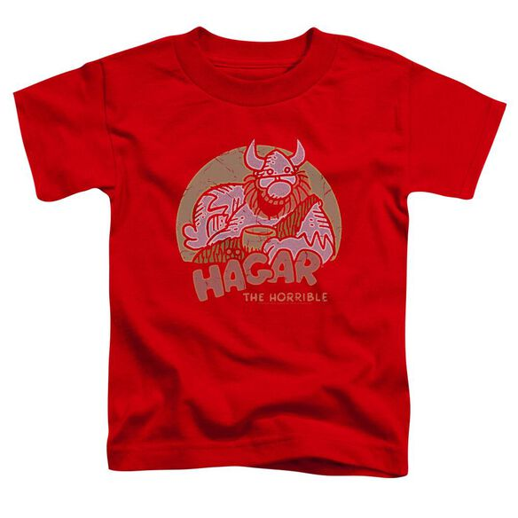 Hagar The Horrible Hagar Circle Short Sleeve Toddler Tee Royal Blue T-Shirt