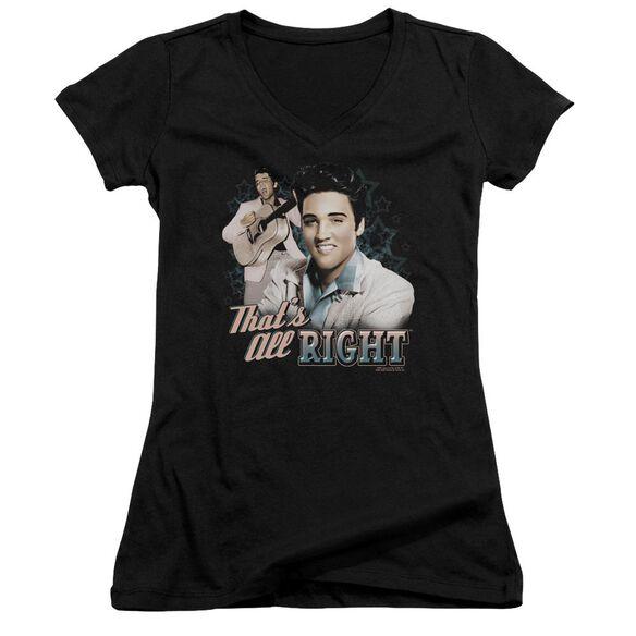 Elvis That's All Right Junior V Neck T-Shirt