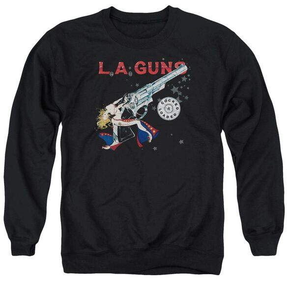 La Guns Cocked And Loaded Adult Crewneck Sweatshirt