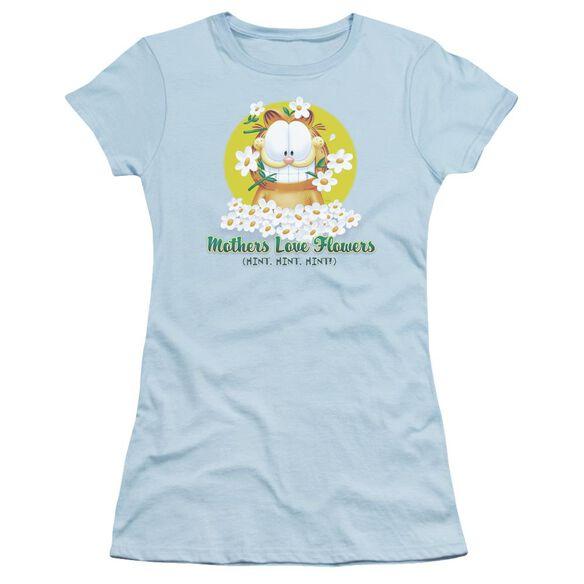 Garfield Mother's Love Flowers Short Sleeve Junior Sheer Light T-Shirt