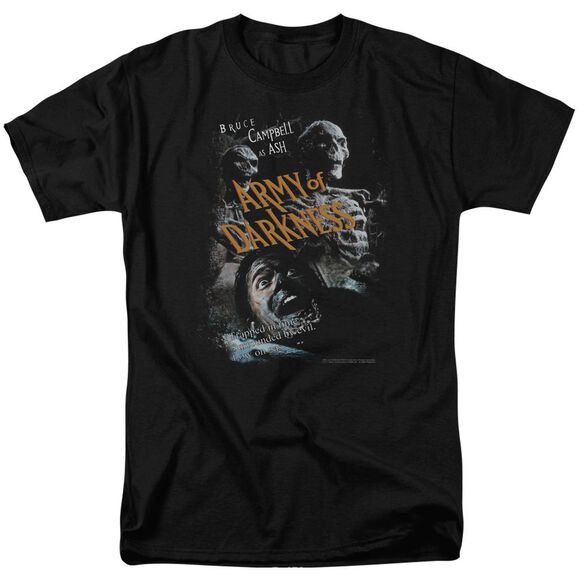 Army Of Darkness Covered Short Sleeve Adult Black T-Shirt