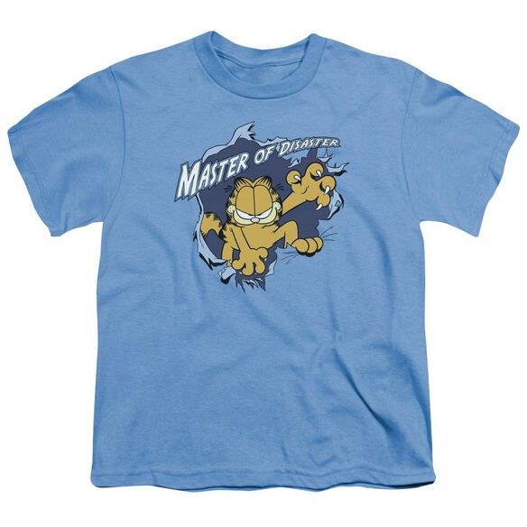 Garfield Master Of Disaster Short Sleeve Youth Carolina T-Shirt