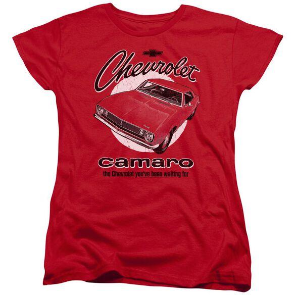 Chevrolet Retro Camaro Short Sleeve Womens Tee T-Shirt