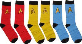 Star Trek OS Mens Crew 3 Pair Socks Set