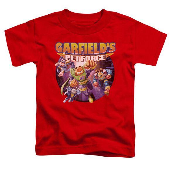 Garfield Pet Force Four Short Sleeve Toddler Tee Red T-Shirt