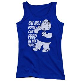Family Guy In My Pants - Juniors Tank Top - Royal Blue