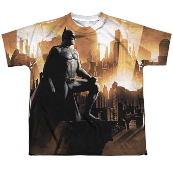 Batman Begins My City Short Sleeve Youth Poly Crew T-Shirt