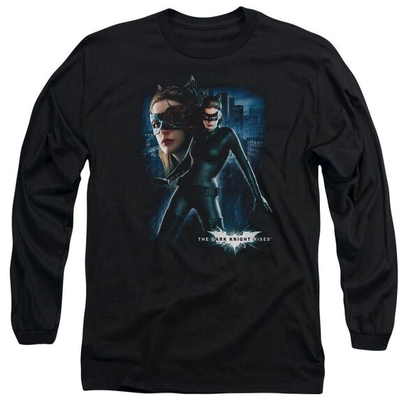 Dark Knight Rises Catwoman Long Sleeve Adult T-Shirt