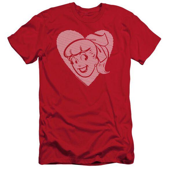 Archie Comics Betty Hearts Short Sleeve Adult T-Shirt
