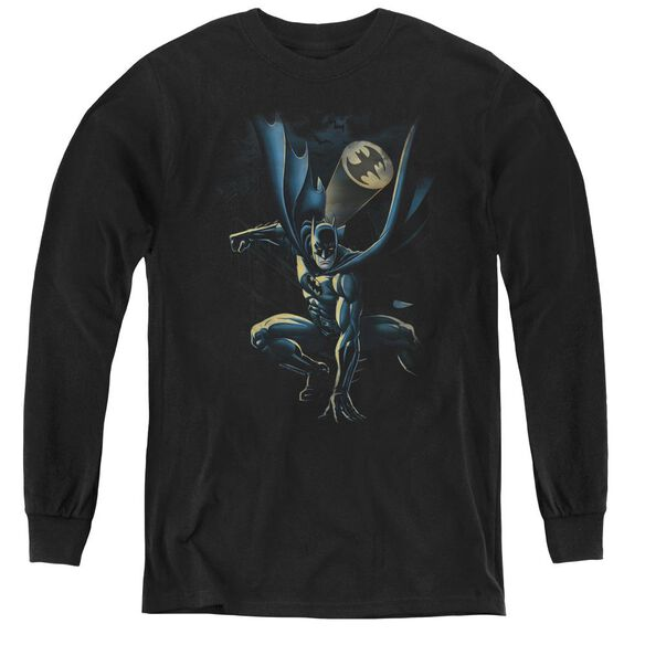 Batman Calling All Bats - Youth Long Sleeve Tee - Black