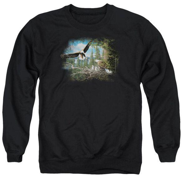 Wildlife Spring Bald Eagles Adult Crewneck Sweatshirt