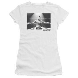 Rocky Iii Clubber Square Short Sleeve Junior Sheer T-Shirt