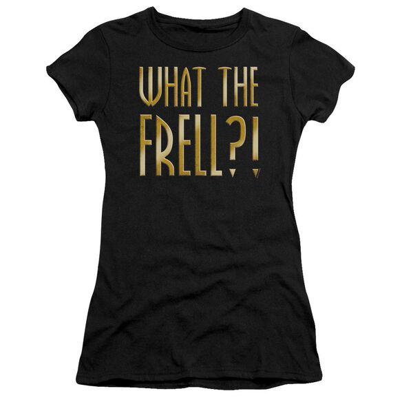 FARSCAPE WHAT THE FRELL - S/S JUNIOR SHEER - BLACK T-Shirt