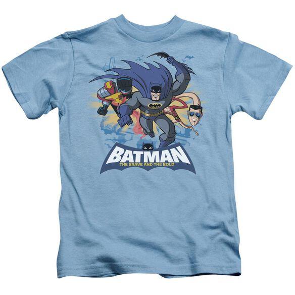 Batman Bb Charging Trio Short Sleeve Juvenile Carolina Blue Md T-Shirt