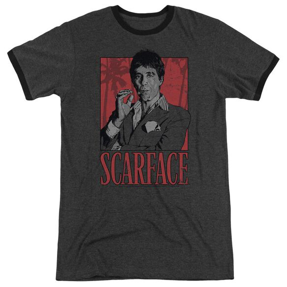 Scarface Tony Adult Heather Ringer Charcoal