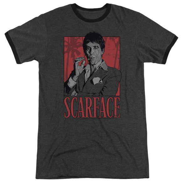Scarface Tony Adult Heather Ringer Charcoal