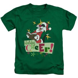 Looney Tunes Cheer Sylvester Short Sleeve Juvenile Kelly T-Shirt