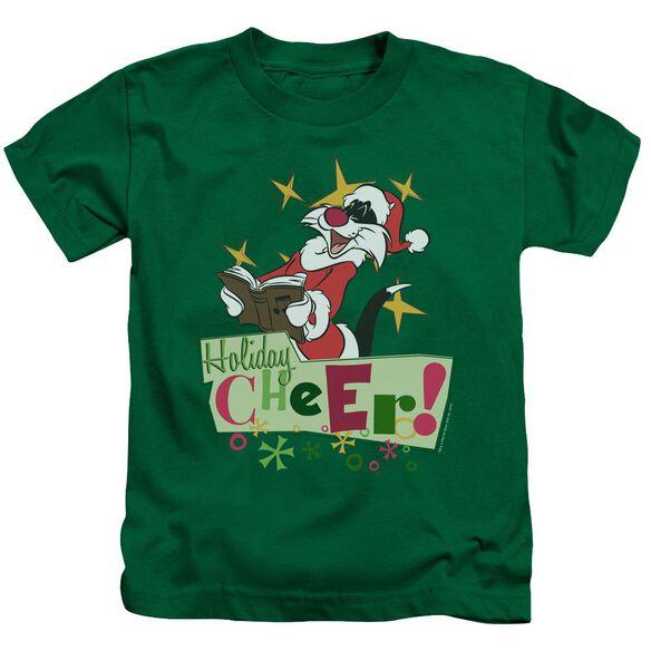 Looney Tunes Cheer Sylvester Short Sleeve Juvenile Kelly T-Shirt