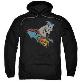 Dc Lite Brite Superman Adult Pull Over Hoodie