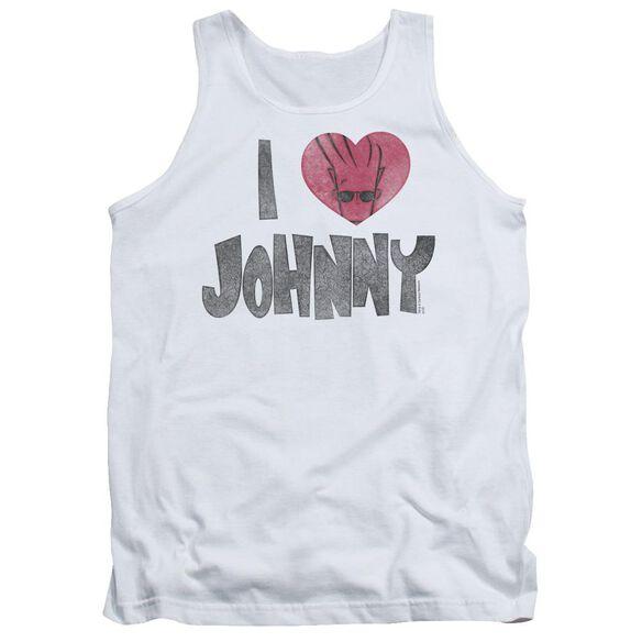 Johnny Bravo I Heart Johnny Adult Tank