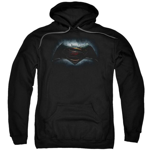 Batman V Superman Logo Adult Pull Over Hoodie