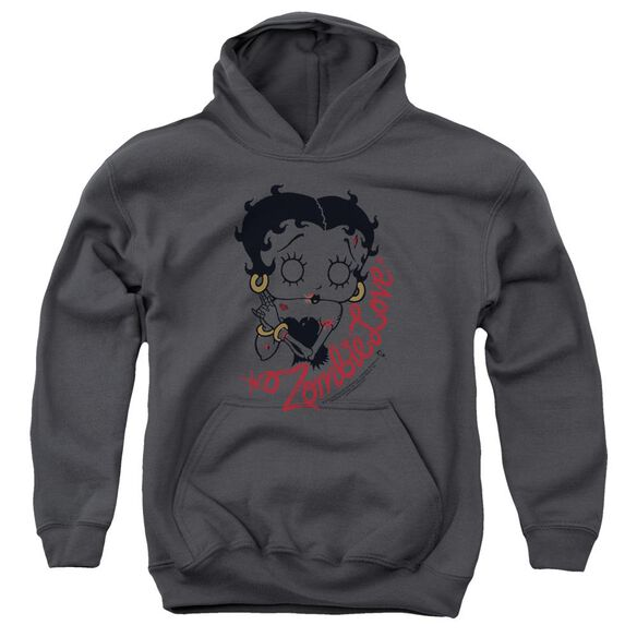 Betty Boop Classic Zombie Youth Pull Over Hoodie