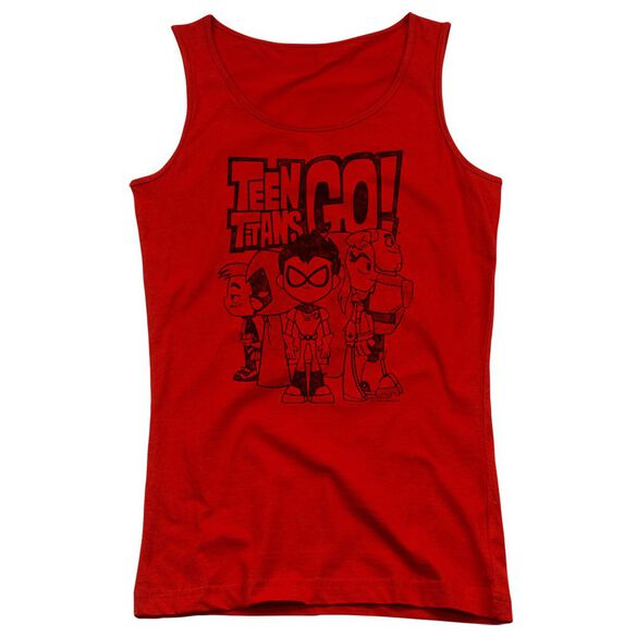 Teen Titans Go Team Up Juniors Tank Top