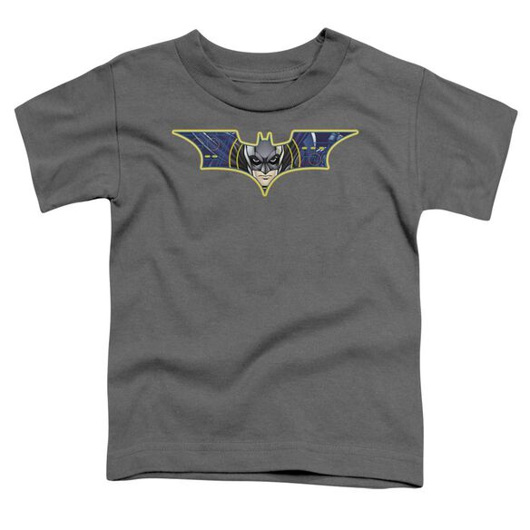 Dark Knight Hes Watching You Short Sleeve Toddler Tee Charcoal T-Shirt