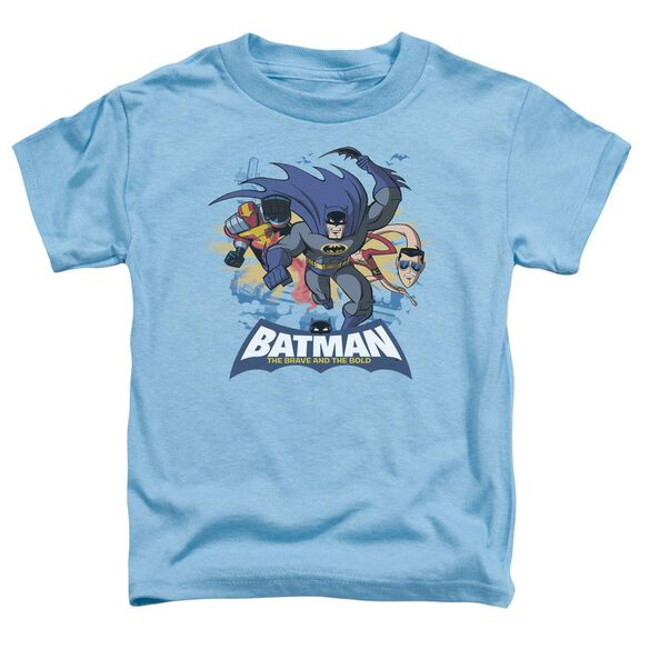 Batman Bb Charging Trio Short Sleeve Toddler Tee Carolina Blue Lg T-Shirt