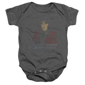 Joan Jett Worn Jett Infant Snapsuit Charcoal