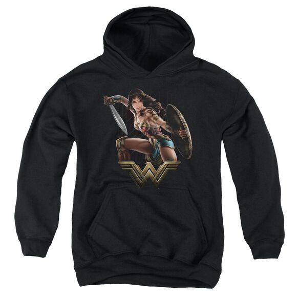 Wonder Woman Movie Fight Youth Pull Over Hoodie