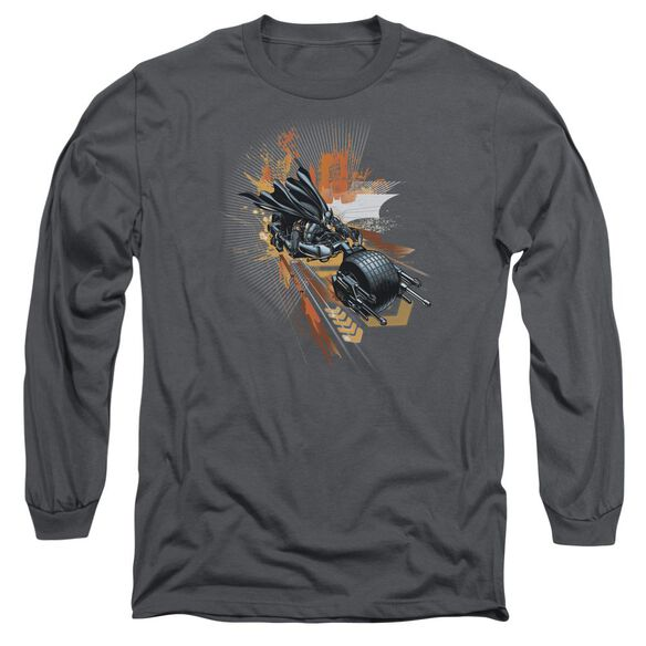 Dark Knight Rises Batpod Long Sleeve Adult T-Shirt