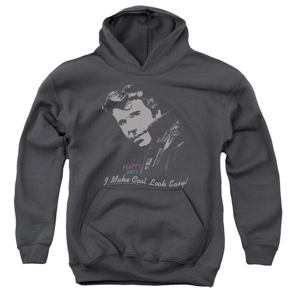 Happy Days Cool Fonz Youth Pull Over Hoodie