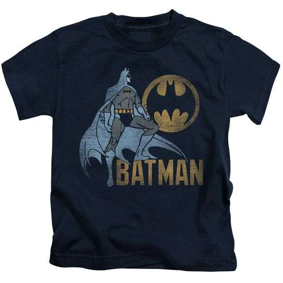 Batman Knight Watch Short Sleeve Juvenile Navy T-Shirt