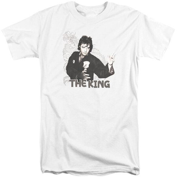Elvis Fighting King Short Sleeve Adult Tall T-Shirt