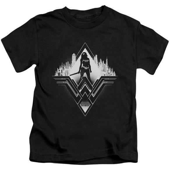 Batman V Superman City Warrior Short Sleeve Juvenile T-Shirt