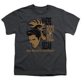 Sun Elvis And Rooster Short Sleeve Youth T-Shirt