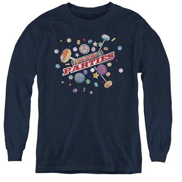 Smarties Parties - Youth Long Sleeve Tee - Navy