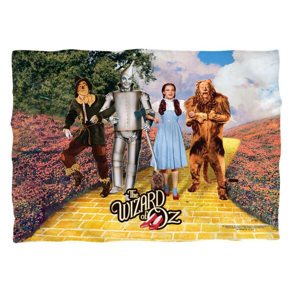Wizard Of Oz On The Road Poly 20 X28 Pillow Case White