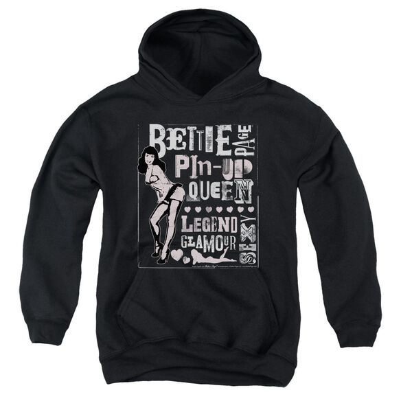 Bettie Page Punk Style Youth Pull Over Hoodie